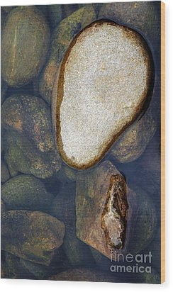 One Stone Wood Print by Allen Carroll