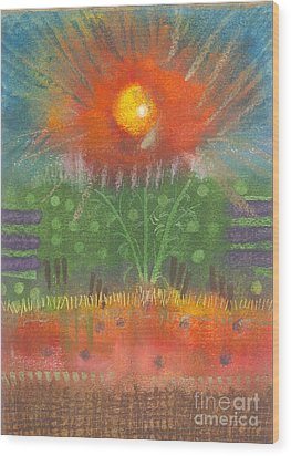 Wood Print featuring the painting One Sunny Day by Angela L Walker