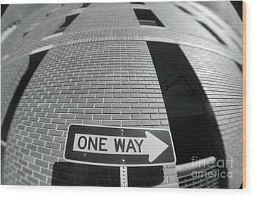One Way Or Another Wood Print