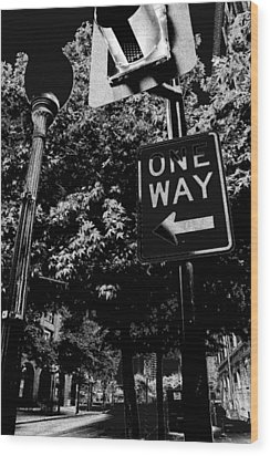 One Way To Go Wood Print by Gulf Island Photography and Images