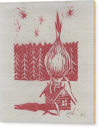 Onion Dome Wood Print