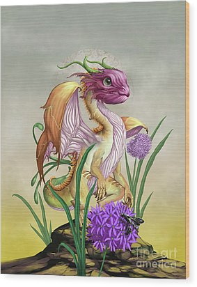 Wood Print featuring the digital art Onion Dragon by Stanley Morrison