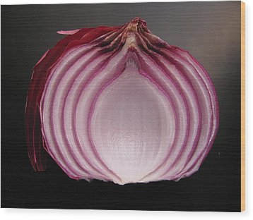 Wood Print featuring the photograph Onion by Lindie Racz