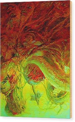 Oniristic Space Wood Print by Henryk Gorecki