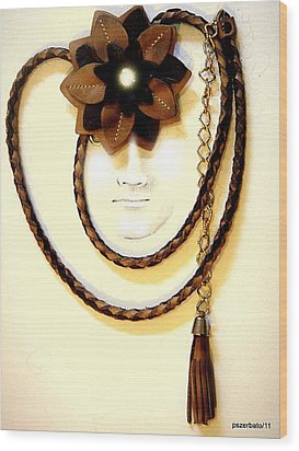 Only An Accessory Wood Print by Paulo Zerbato