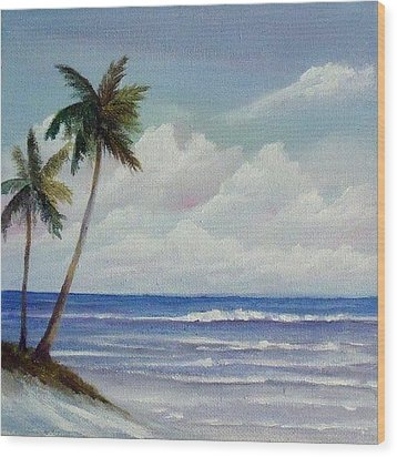 Only In Miami Beach Wood Print by Rosie Brown