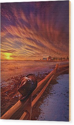 Wood Print featuring the photograph Only This Moment In Between Before And After by Phil Koch