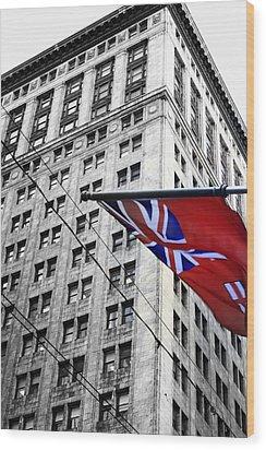 Ontario Flag Wood Print by Valentino Visentini