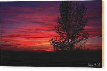 Wood Print featuring the photograph Ontario Sunset 6013 by Maciek Froncisz