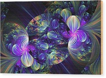 Opal Essence Wood Print by Lea Wiggins
