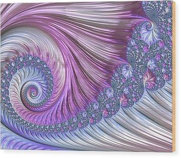 Opal Nautilus Wood Print by Susan Maxwell Schmidt