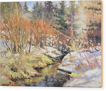 Open Creek Wood Print by Larry Seiler
