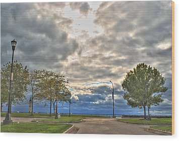 Wood Print featuring the photograph Open Heavens  by Michael Frank Jr