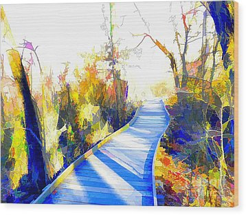 Open Pathway Meditative Space Wood Print by Robyn King