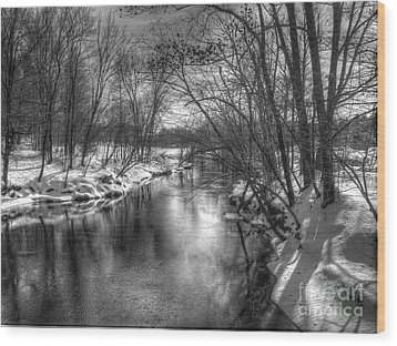 Open River Wood Print
