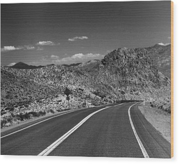 Open Road - Nevada Wood Print by Ann Tracy