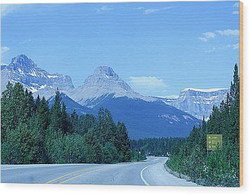 Wood Print featuring the photograph Open Road by Al Fritz