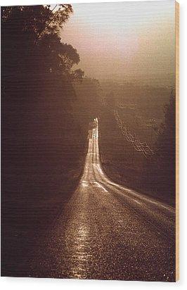 Open Road Wood Print by David Halperin