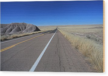 Wood Print featuring the photograph Open Road by Gary Kaylor