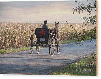 Open Road Open Buggy Wood Print