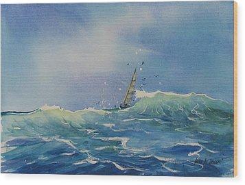 Open Waters Wood Print by Laura Lee Zanghetti