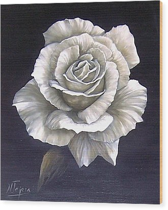 Wood Print featuring the painting Opened Rose by Natalia Tejera
