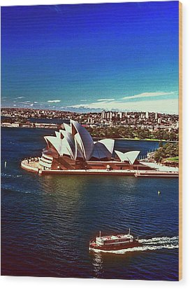 Wood Print featuring the photograph Opera House Sydney Austalia by Gary Wonning