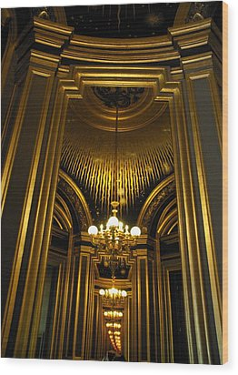 Opera Mirrors II Wood Print by Louise Fahy
