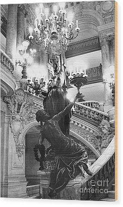 Opera Staircase Wood Print by Louise Fahy