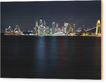 Harbour Streak Wood Print