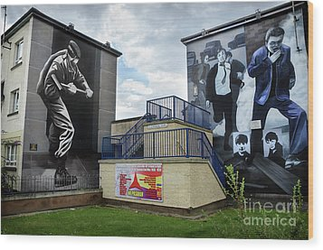 Wood Print featuring the photograph Operation Motorman Mural In Derry by RicardMN Photography