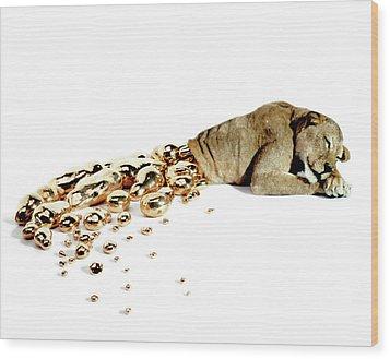 Ophelia Wood Print by Afke Golsteijn