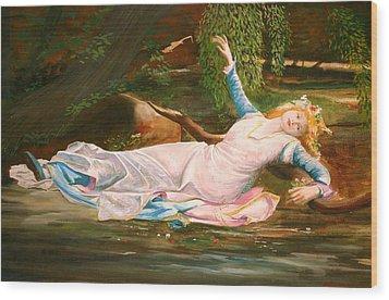 Ophelia  Wood Print by Steve Jones