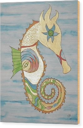 Ophelia The Seahorse Wood Print