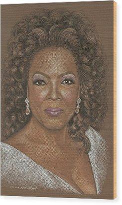 Oprah Wood Print by Kurt Holdorf