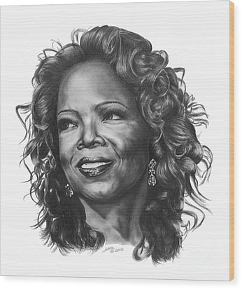 Oprah Wood Print by Marianne NANA Betts