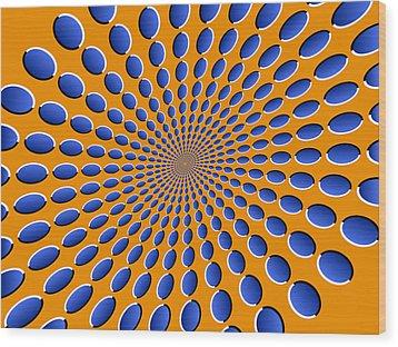 Optical Illusion Pods Wood Print by Michael Tompsett