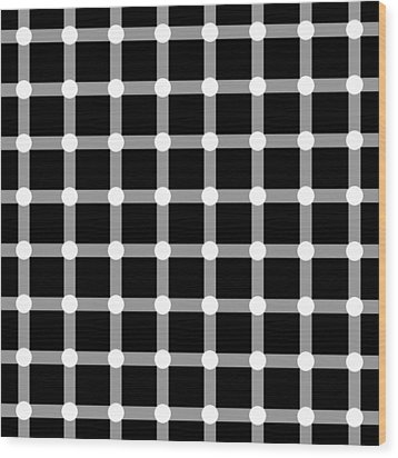 Optical Illusion The Grid Wood Print