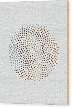 Wood Print featuring the digital art Optical Illusions - Famous Work Of Art 2 by Klara Acel