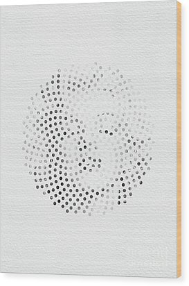Wood Print featuring the digital art Optical Illusions - Iconical People 1 by Klara Acel