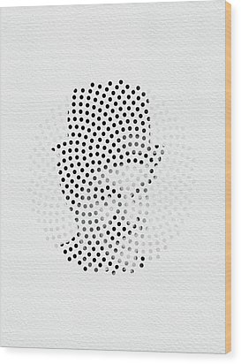 Wood Print featuring the digital art Optical Illusions - Iconical People 2 by Klara Acel