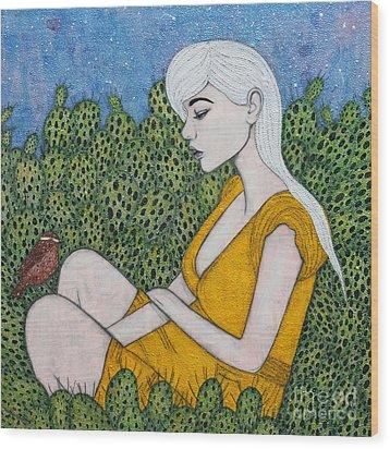 Opuntia Wood Print by Natalie Briney