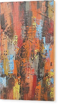 Orange Abstract Wood Print