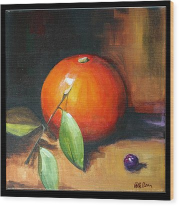 Orange And Purple Wood Print by Pepe Romero