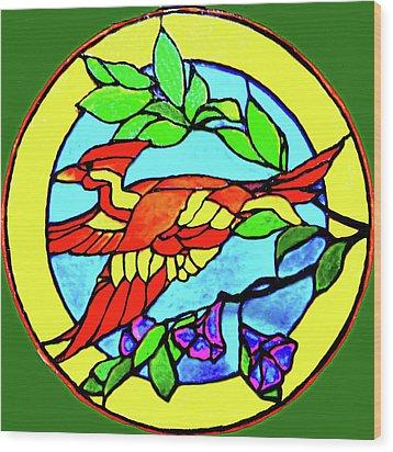 Orange Beauty Wood Print by Farah Faizal