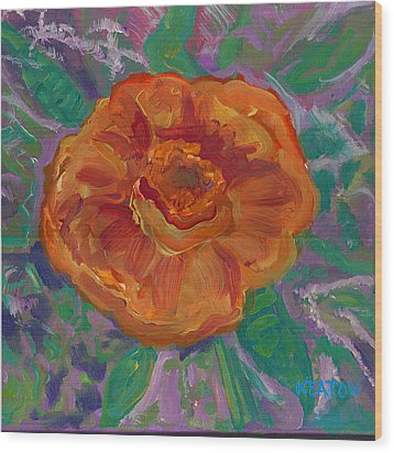 Wood Print featuring the painting Orange Blossom by John Keaton
