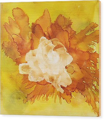 Orange Blossom  Wood Print by Suzanne Canner