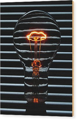 Orange Bulb Wood Print by Rob Hawkins