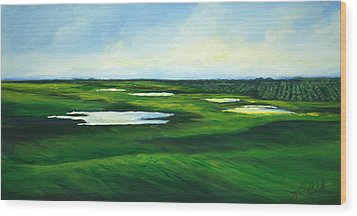 Orange County Fairway Wood Print by Michele Hollister - for Nancy Asbell