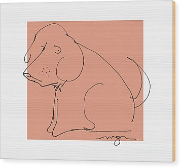 Orange Dog Wood Print